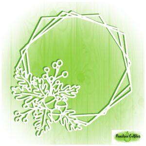 Hexagonal Autumn Wreath