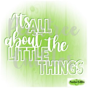 Its All About the Little Things