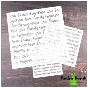 Family Words Background Stencil