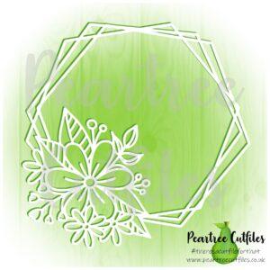Floral Hexagon Wreath
