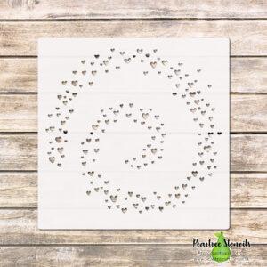 Heart Spiral Stencil